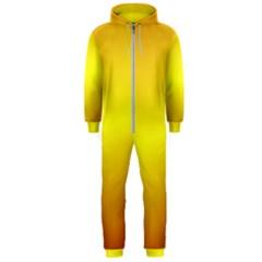 Gradient Orange Heat Hooded Jumpsuit (men)