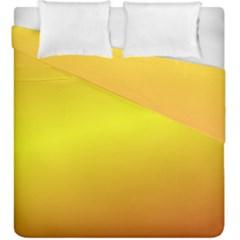 Gradient Orange Heat Duvet Cover Double Side (king Size)