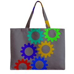 Gear Transmission Options Settings Zipper Mini Tote Bag