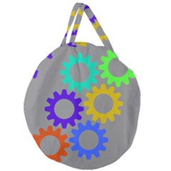 Gear Transmission Options Settings Giant Round Zipper Tote