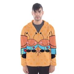 Crab Sea Ocean Animal Design Hooded Wind Breaker (men)