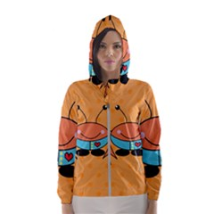 Crab Sea Ocean Animal Design Hooded Wind Breaker (women)