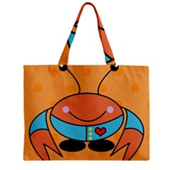 Crab Sea Ocean Animal Design Zipper Mini Tote Bag