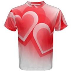 Heart Love Romantic Art Abstract Men s Cotton Tee