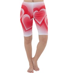 Heart Love Romantic Art Abstract Cropped Leggings