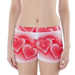 Heart Love Romantic Art Abstract Boyleg Bikini Wrap Bottoms