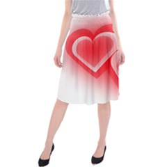 Heart Love Romantic Art Abstract Midi Beach Skirt