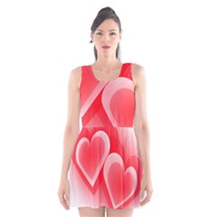 Heart Love Romantic Art Abstract Scoop Neck Skater Dress