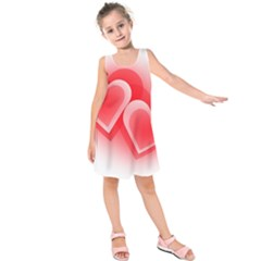 Heart Love Romantic Art Abstract Kids  Sleeveless Dress