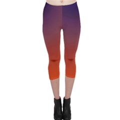 Course Colorful Pattern Abstract Capri Leggings