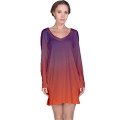 Course Colorful Pattern Abstract Long Sleeve Nightdress