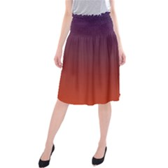 Course Colorful Pattern Abstract Midi Beach Skirt