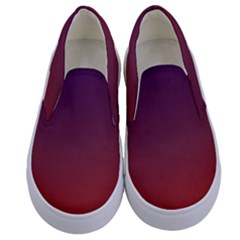 Course Colorful Pattern Abstract Kids  Canvas Slip Ons