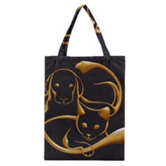 Gold Dog Cat Animal Jewel Dor¨| Classic Tote Bag