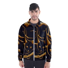 Gold Dog Cat Animal Jewel Dor¨| Wind Breaker (men)