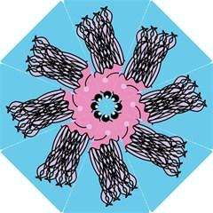 Jellyfish Cute Illustration Cartoon Hook Handle Umbrellas (large)
