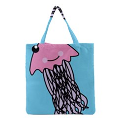 Jellyfish Cute Illustration Cartoon Grocery Tote Bag
