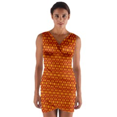 Pattern Creative Background Wrap Front Bodycon Dress