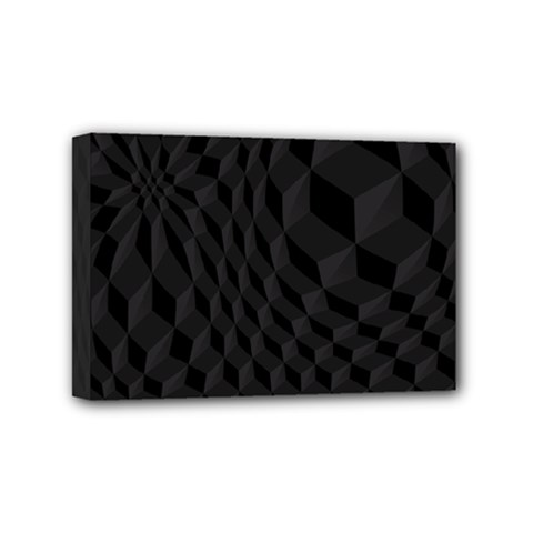 Pattern Dark Black Texture Background Mini Canvas 6  X 4