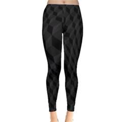 Pattern Dark Black Texture Background Leggings