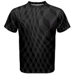 Pattern Dark Black Texture Background Men s Cotton Tee