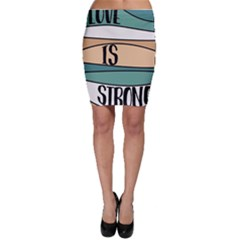 Love Sign Romantic Abstract Bodycon Skirt