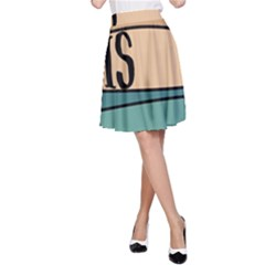 Love Sign Romantic Abstract A Line Skirt