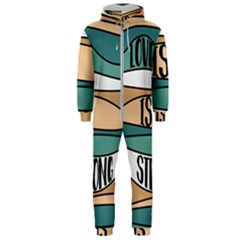Love Sign Romantic Abstract Hooded Jumpsuit (men)