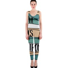 Love Sign Romantic Abstract Onepiece Catsuit