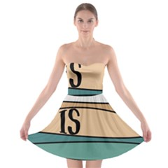 Love Sign Romantic Abstract Strapless Bra Top Dress