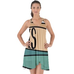 Love Sign Romantic Abstract Show Some Back Chiffon Dress