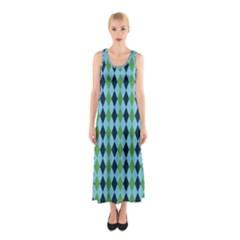 Rockabilly Retro Vintage Pin Up Sleeveless Maxi Dress