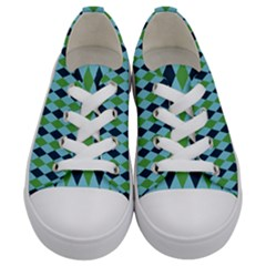 Rockabilly Retro Vintage Pin Up Kids  Low Top Canvas Sneakers