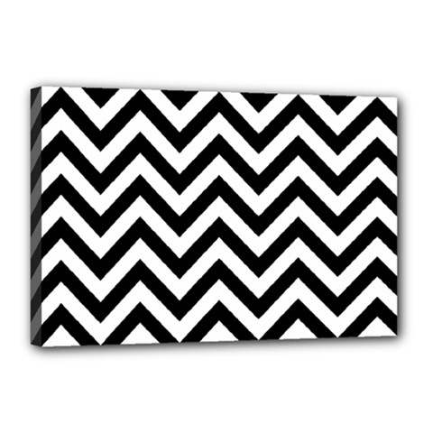 Wave Background Fashion Canvas 18  X 12