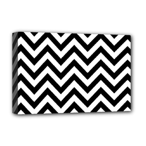 Wave Background Fashion Deluxe Canvas 18  X 12