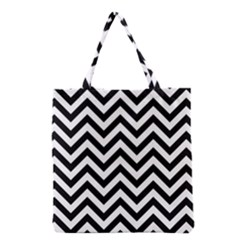 Wave Background Fashion Grocery Tote Bag