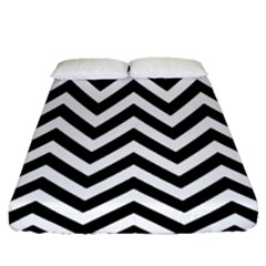 Wave Background Fashion Fitted Sheet (queen Size)