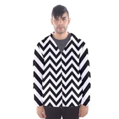 Wave Background Fashion Hooded Wind Breaker (men)