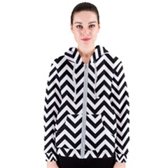 Wave Background Fashion Women s Zipper Hoodie