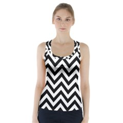 Wave Background Fashion Racer Back Sports Top