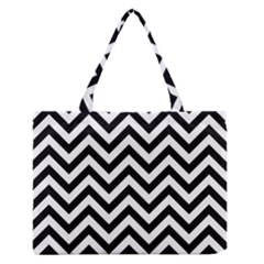 Wave Background Fashion Zipper Medium Tote Bag