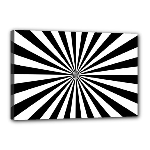 Rays Stripes Ray Laser Background Canvas 18  X 12