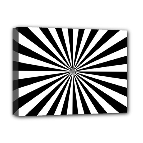 Rays Stripes Ray Laser Background Deluxe Canvas 16  X 12