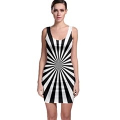Rays Stripes Ray Laser Background Bodycon Dress