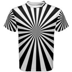 Rays Stripes Ray Laser Background Men s Cotton Tee