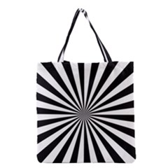 Rays Stripes Ray Laser Background Grocery Tote Bag