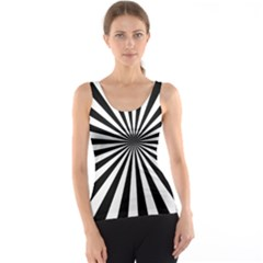 Rays Stripes Ray Laser Background Tank Top