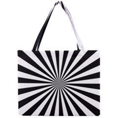 Rays Stripes Ray Laser Background Mini Tote Bag