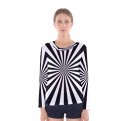 Rays Stripes Ray Laser Background Women s Long Sleeve Tee