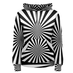 Rays Stripes Ray Laser Background Women s Pullover Hoodie